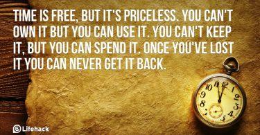 az idő nem kerül semmibe, de megfizethetetlen