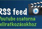 youtube csatorna feliratkozás rss feed