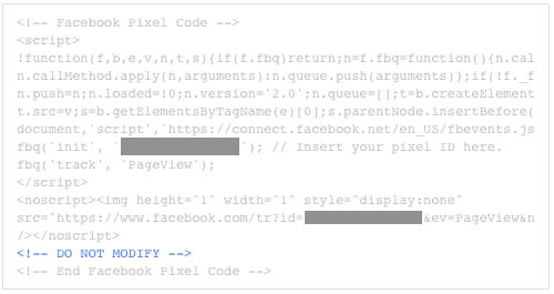 így néz ki a Facebook retargeting pixel