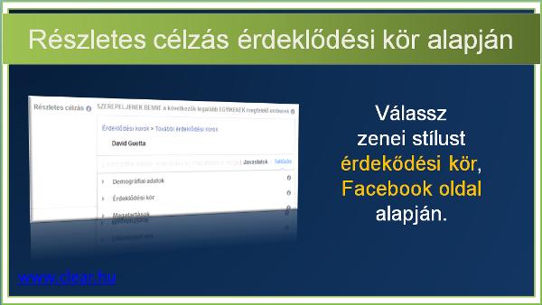 Facebook hirdetés célzás érdeklődési kör alapján