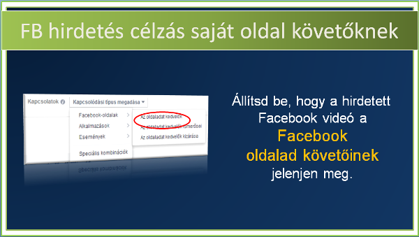 Facebook hirdetés célzása a saját Facebook oldal követők számára
