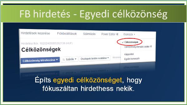Facebook egyedi célközönség videóklip népszerűsítéshez