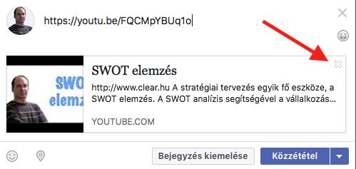 link megosztás Facebookon nem az automatikusan létrehozott előnézettel