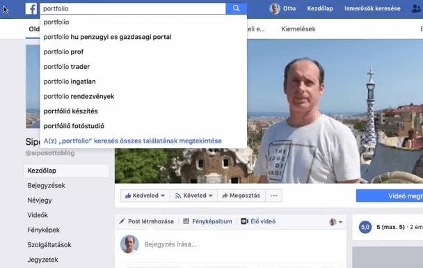 Facebook keresés portfolio.hu Facebook oldalára