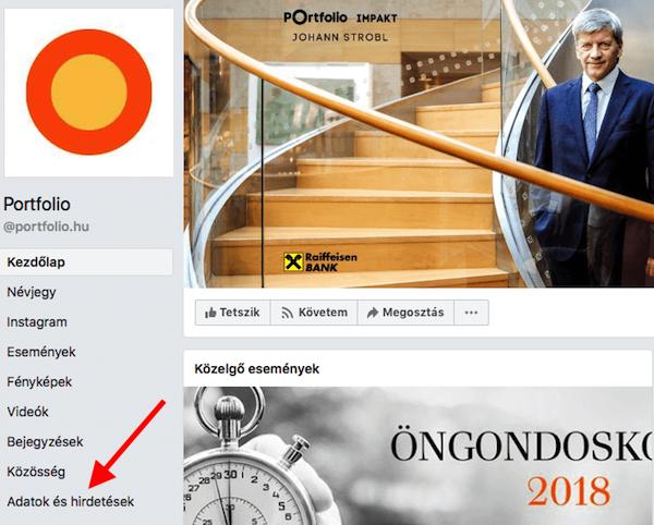 portfolio.hu Facebook oldala