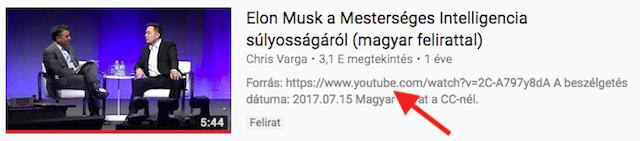 Találat a Youtube keresőben