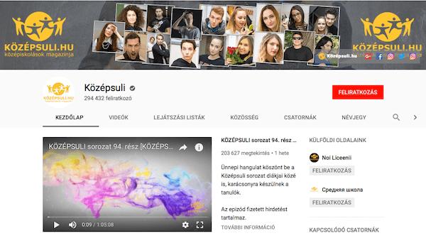 Youtube-csatorna-pozicionalas-video-tipus-kozepsuli-tinisorozat