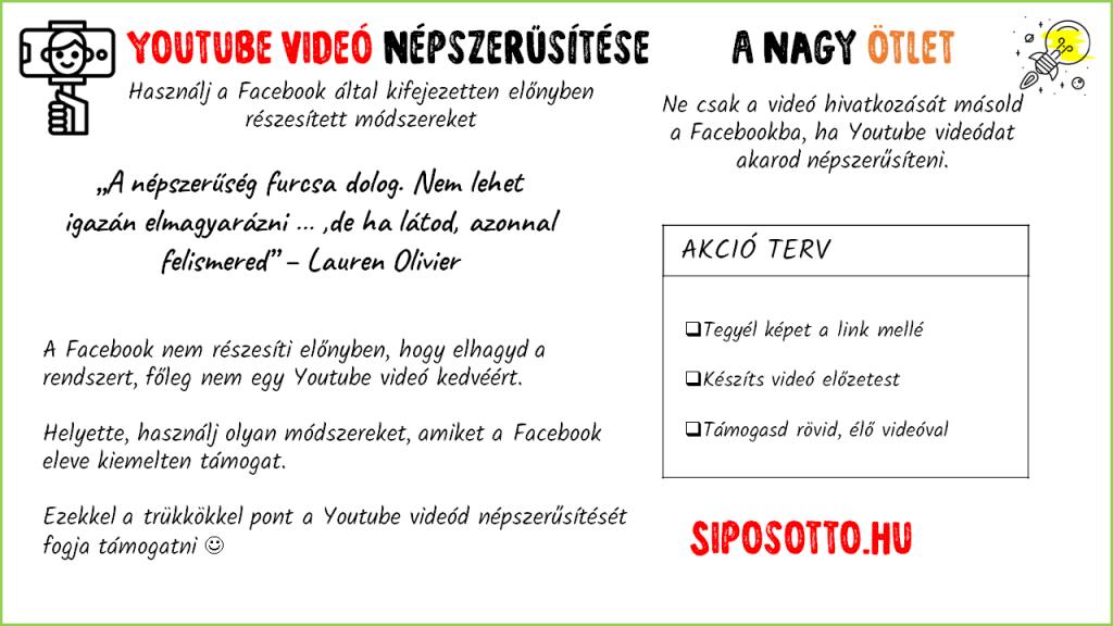 Youtube videó népszerűsítése a Facebookon